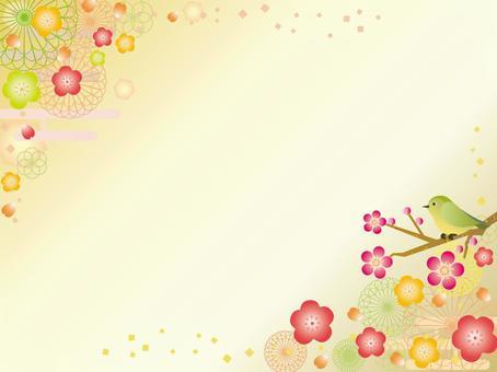 Japanese paper _ flower pattern _ plum gourd