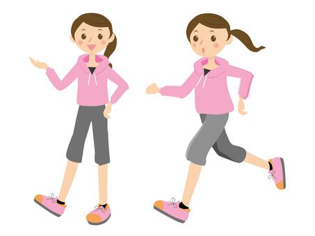 跑步的婦女