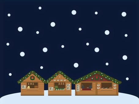 クリスマスマーケットの背景