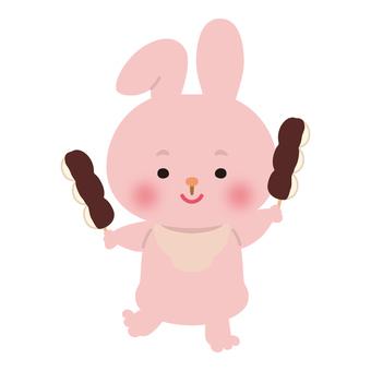 兔子(紅豆沙)