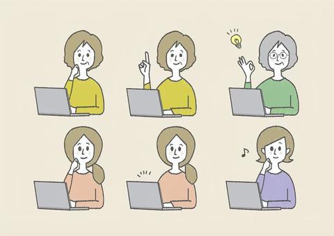 個人電腦_笑臉的女人
