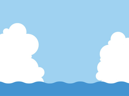 Sea and sky and clouds 1