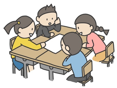 Children studying in groups 2