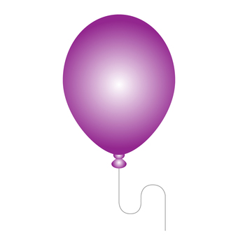 紫色氣球的插圖