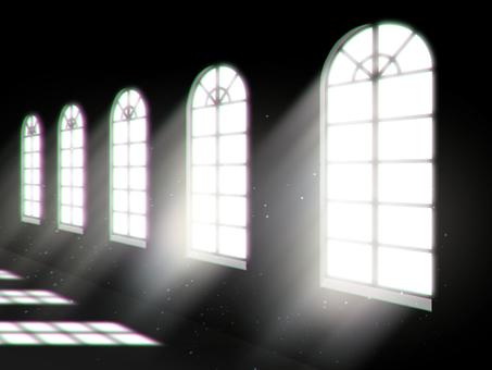 Backlit corridor