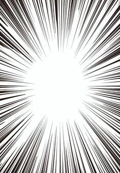 集中線・効果線(漫画)素材☆線細め☆縦長