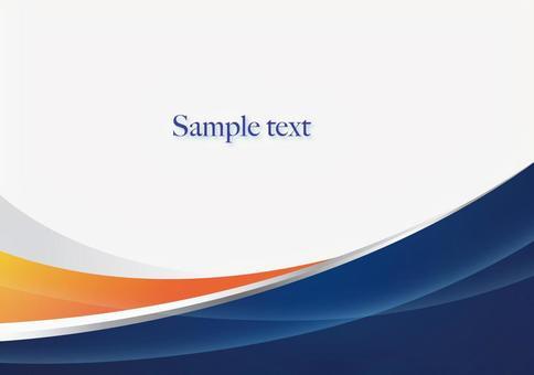 藍色和橙色波浪背景