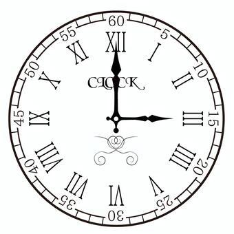 Clock 3 o'clock 15 o'clock
