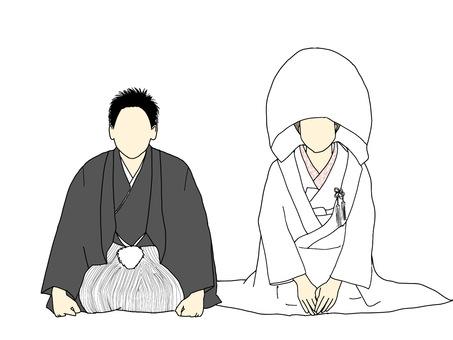 Wedding kimono white innocence