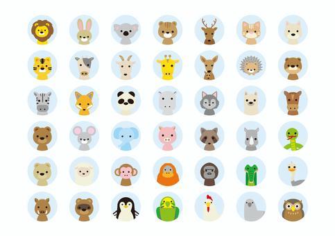 Animal illustration icon set 1
