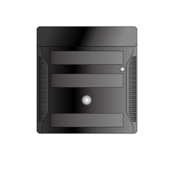 Cube type personal computer (black)