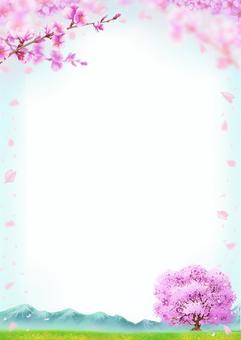 景觀圖-櫻花盛開景觀框架