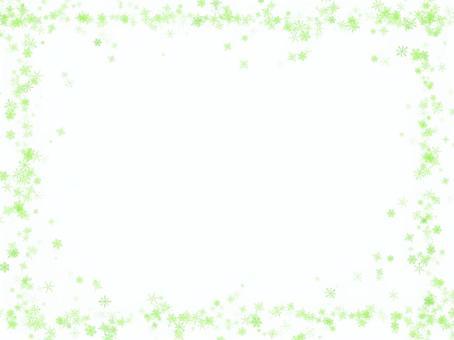 Snow crystal frame (yellow green)