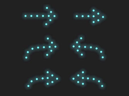箭頭照明材料集:藍線