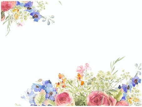 Letter background - subtle color rose