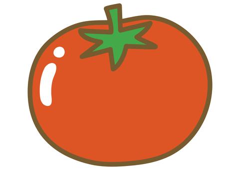 Cute tomato illustration