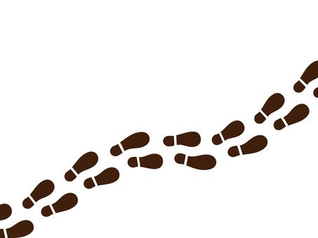 Shoe footprints