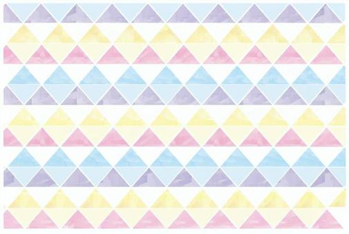 水彩風格三角形圖案素材01