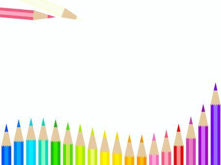 彩色的鉛筆框架