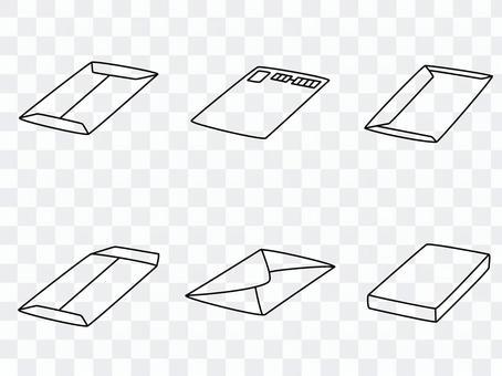 手繪線條藝術信封套
