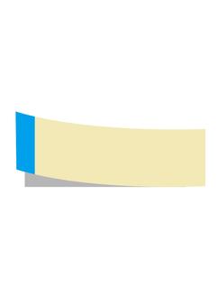 Sticky note (blue)