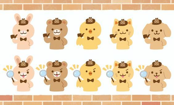 動物探偵キャラクターセット