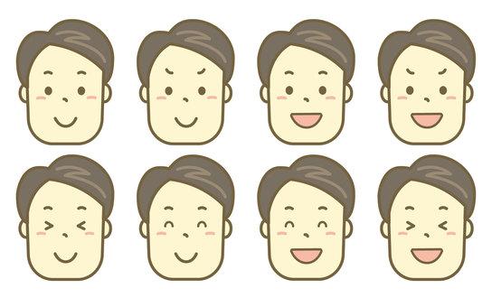 笑的人臉集