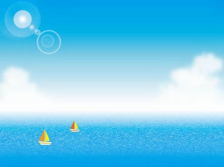 Blue sky, sea and sailboat