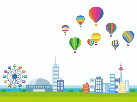 Balloon and city