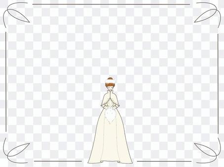 婚紗框架壁紙鈴鐺粉紅色