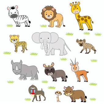 アフリカ サバンナの動物達