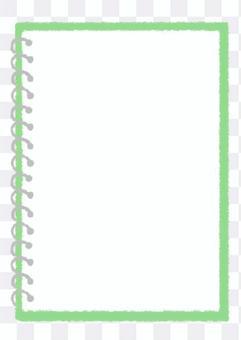 手環筆記本_黃綠色手繪插畫