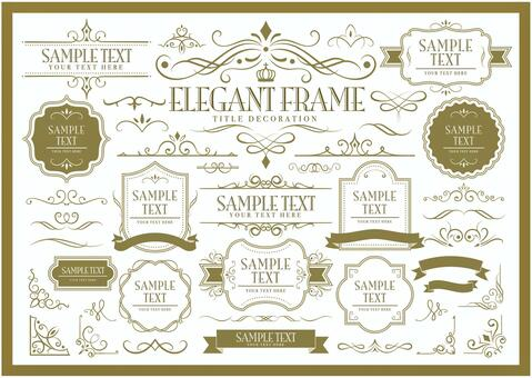 Elegant frame set