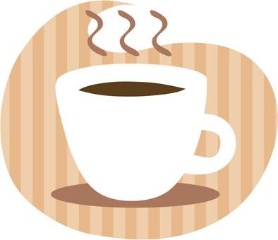 咖啡杯子(鑲邊背景)
