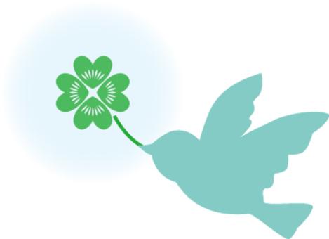 免費插畫三葉草和平