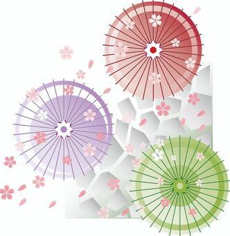 日本的繖花,而櫻花跳舞