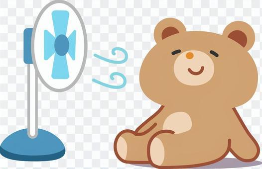 小熊用風扇冷卻