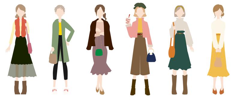 Autumn fashion coordination_no outline