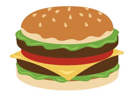 餐 ★ 西餐插畫漢堡