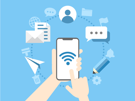 Message exchange on smartphone