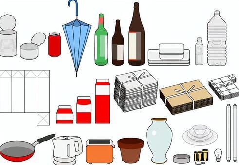 資源垃圾·分離的垃圾