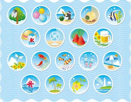 夏天的場景各種圓形形狀