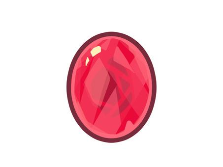 帶線的紅色寶石圖標