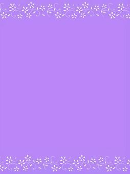 Flower frame 09 / purple