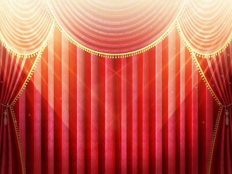 Illuminated stage red curtain wallpaper frame 2
