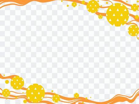 日式花紋frame_streamline和scale pattern_F