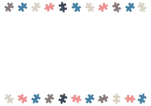 パズルピースの飾り罫01