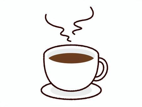コーヒーカップ イラスト 湯気