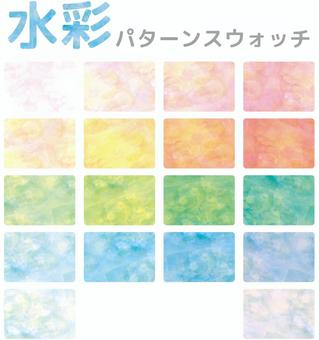Background pattern watercolor swatch seamless japanese style