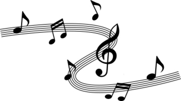 Musical note and sound note black